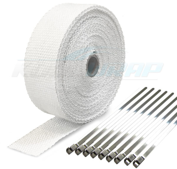 Kool Wrap Exhaust Wrap white with ties