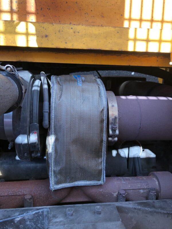 Kool Wrap Turbo Blanket on Clarke Omega 54D Forklift
