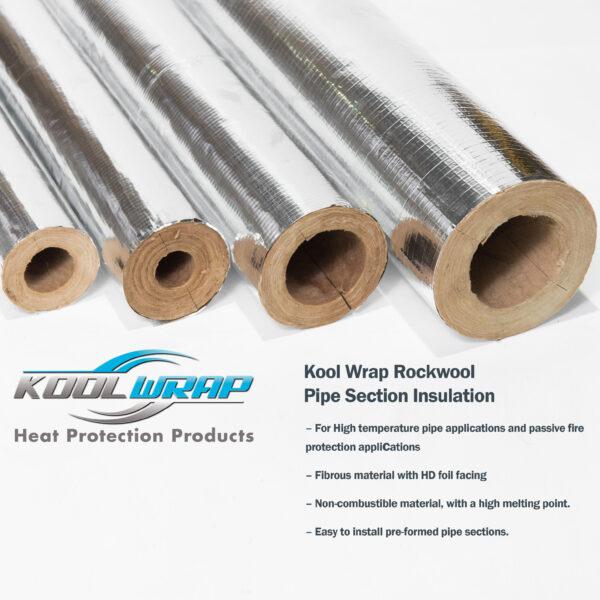 Kool Wrap Rockwool Pipe Section