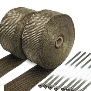 Kool Wrap Titanium Exhaust Wrap or Lagging 2 x 15m rolls